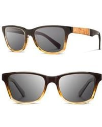Shwood - 'canby' 53mm Sunglasses - Sweettea/ Maple/ Gray - Lyst