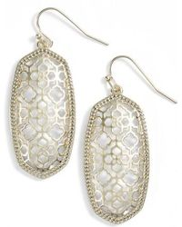 Kendra Scott - Elle Openwork Drop Earrings - Lyst