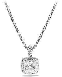 David Yurman - 'albion' Pendant With Semiprecious Stone & Diamonds On Chain - Lyst