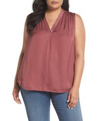 Vince Camuto - Rumpled Satin Top - Lyst