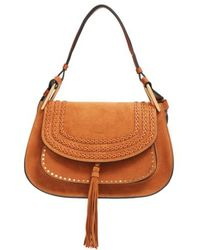 Chloé - 'hudson' Studded Suede Shoulder Bag - - Lyst