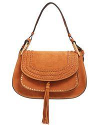 Chloé - Hudson Studded Suede Shoulder Bag - Lyst
