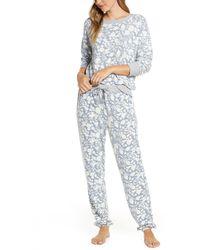 Splendid - Long Sleeve Pajamas - Lyst