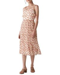 Whistles - Salome Lenno Print Midi Dress - Lyst