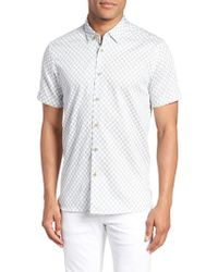 Ted Baker - Newfone Trim Fit Chambray Sport Shirt - Lyst