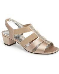 David Tate Eve Embellished Sandal - Metallic