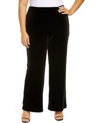 1.STATE Stretch Velvet Pants - Black