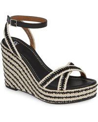 BP. Gabby Woven Wedge Sandal - Black