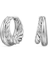 David Yurman - Pure Form Hoop Earrings - Lyst