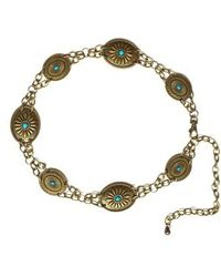 Lovestrength - Camilla Genuine Turquoise Chain Belt - Lyst
