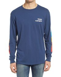 Vissla Spectrical Long Sleeve Graphic Tee - Blue