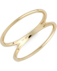 Bony Levy 14k Two Bar Ring (nordstrom Exclusive) - Yellow