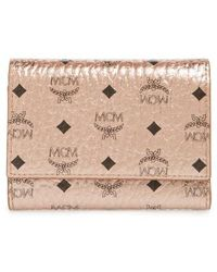 MCM - Small Visetos Coated Canvas Trifold Wallet - - Lyst