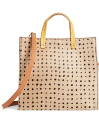 Clare V. - Small Petit Simple Genuine Calf Hair Tote - Lyst