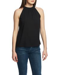 1.STATE High Neck Top - Black