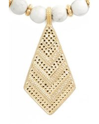 Anna Beck - Howlite Beaded Pendant Necklace - Lyst
