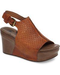 Otbt Jaunt Platform Wedge Sandal - Brown