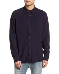 Zanerobe - Striped Long Sleeve Shirt - Lyst