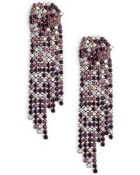 Serefina Sparkle Statement Earrings - Purple