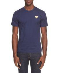 Play Comme des Garçons - Crewneck T-shirt - Lyst