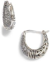 John Hardy - Classic Chain Gemstone Hoop Earrings - Lyst