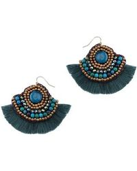 Nakamol - Fringed Malachite Fan Earrings - Lyst