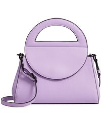T-Shirt & Jeans - Trapezoid Faux Leather Satchel - Purple - Lyst