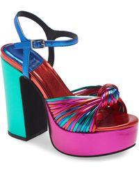 Jeffrey Campbell Disque-o Platform Sandal - Blue