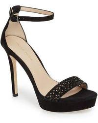 Pelle Moda - Olivia Embellished Platform Sandal - Lyst