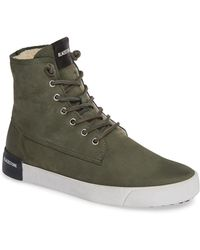 Blackstone - Ql41 High Top Sneaker With Genuine Shearling Lining - Lyst
