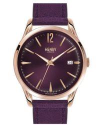 Henry London - 'hampstead' Leather Strap Watch - Lyst
