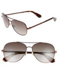 Kate Spade - Avaline 58mm Aviator Sunglasses - - Lyst