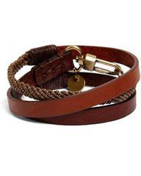 Caputo & Co. - Leather Wrap Bracelet - Lyst