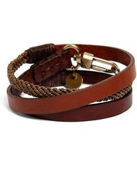 Caputo & Co. | Leather Wrap Bracelet | Lyst