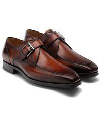 Magnanni Maurici Diversa Monk Strap Shoe - Brown