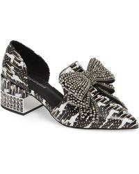 Jeffrey Campbell Valenti Embellished Bow Loafer - Black