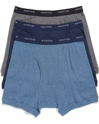 Nordstrom 3-pack Supima Cotton Boxer Briefs, Blue