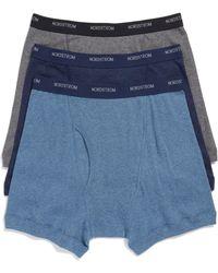 Nordstrom - Nordstrom Mens Shop 3-pack Supima Cotton Boxer Briefs, Blue - Lyst