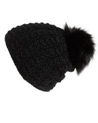 Kyi Kyi - Genuine Fox Pompom Hat - - Lyst