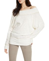 Free People Palisades Off The Shoulder Top - White