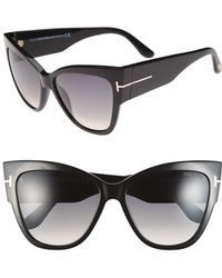 5ac590b844 Tom Ford - Anoushka 57mm Gradient Cat Eye Sunglasses - Shiny Black  Gradient  Grey -