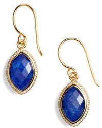 Anna Beck - Lapis Marquise Drop Earrings - Lyst