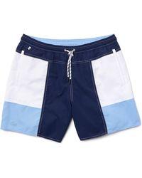 Lacoste Colorblock Swim Trunks - Blue