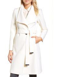 6297717af99652 Lyst - Ted Baker Kikiie Wool Cashmere Coat in Pink