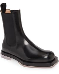 Bottega Veneta Slip-on Chelsea Boots - Black