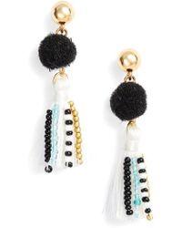 Rebecca Minkoff - Beaded Tassel Earrings - Lyst