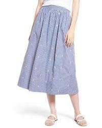 Nordstrom 1901 Smocked Waist Midi Skirt