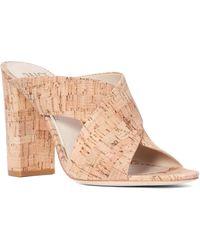 PAIGE Nadia Block Heel Sandal - Natural