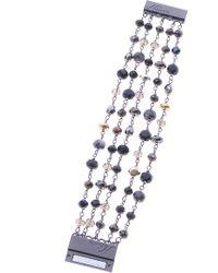 Nakamol - Crystal & Pyrite Magnetic Bracelet - Lyst