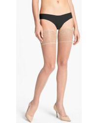 Donna Karan - Donna Karan Lace Top Stay-up Stockings - Lyst